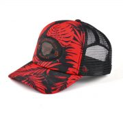 Red And Black Camo Snapback Hats   Red Mesh Trucker Cap