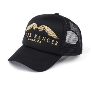 Tiger Ranger Back Trucker Hat With Gold Embroidery